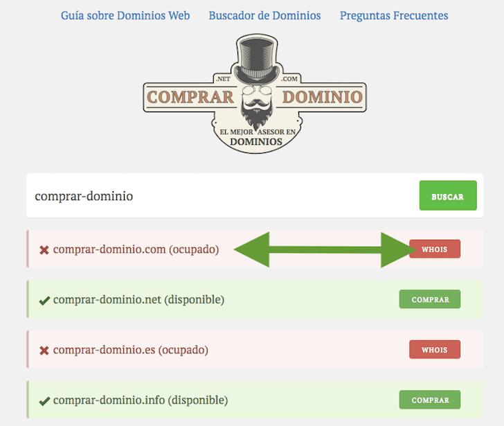 Consultar Whois is Dominio