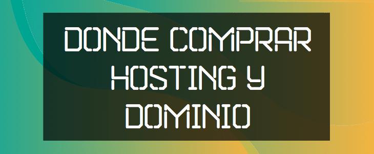 dominio o hosting