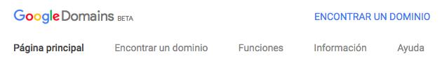 Comprar Dominios Google