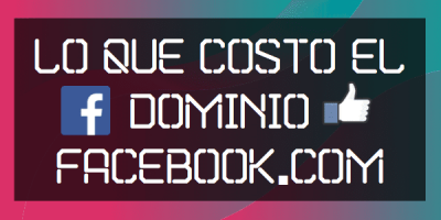 costo del dominio facebook com